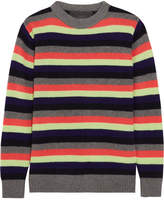 The Elder Statesman Striped Cashmere Sweater - Gray
