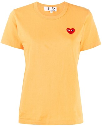Comme des Garcons logo embroidered crew neck T-shirt