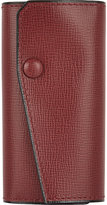 Valextra Men's Key Holder-BURGUNDY