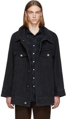 Matthew Adams Dolan Black Swing Back Trucker Jacket