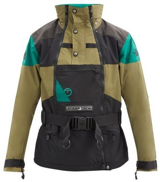 The North Face Apogee Belted Waterproof-shell Jacket - Black Green