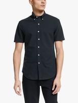 Ralph Lauren Polo Slim Fit Short Sleeve Oxford Shirt, Polo Black