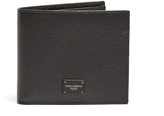 Dolce & Gabbana Bi-fold grained-leather wallet