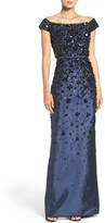 Adrianna Papell Women's Embellished Off The Shoulder Taffeta Gown