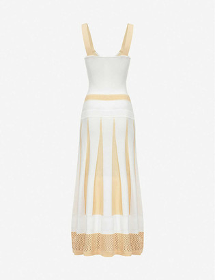 Pinko Lipari striped knitted midi dress
