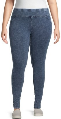 Marc New York Performance, Plus Size Plus Marbled Wash Jeggings