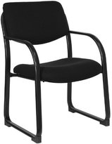 FlashFurniture Fabric Executive Side Chair with Sled Base, Black