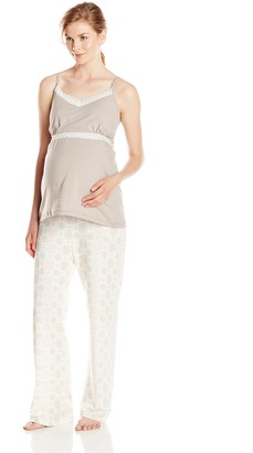 Belabumbum Women's Maternity Starlit 2-Piece and Nursing Cami and Pant Set