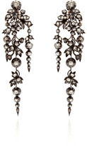 Stephen Russell Antique Silver And Gold Diamond Earrings Circa 1860