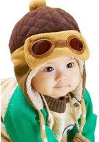 Towallmark Boys Winter Warm Beanie Pilot Crochet Earflap Cap Hat