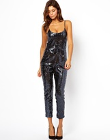 Asos Cami Strap Jumpsuit in Sequins