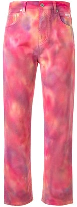 MSGM tie-dye cropped jeans