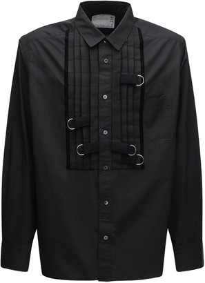 Sacai Cotton Poplin Shirt W/ Metal D-rings