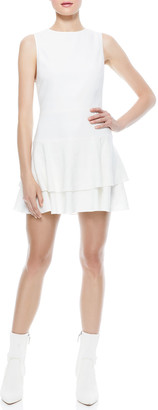 Alice + Olivia Palmira Sleeveless Ruffle Dress