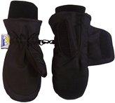 N'Ice Caps Kids Easy On Velcro Wrap Waterproof Thinsulate Winter Snow Mitten (, Black)