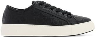 Salvatore Ferragamo Anson Leather Gancini Embossed Sneakers