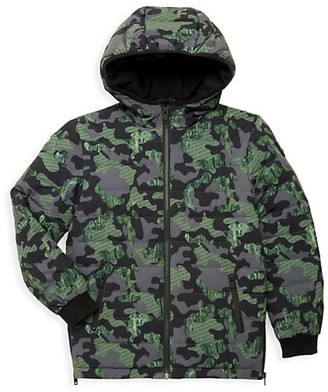 Moose Knuckles Little Kid's & Kid's Minto Camouflage Down Jacket