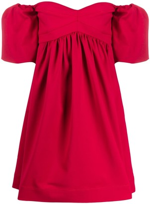 Pinko off the shoulder stretch fit dress