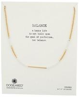 Dogeared Balance Seed Bead Bar Choker Necklace