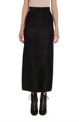 Alaia Velvet Maxi Pencil Skirt