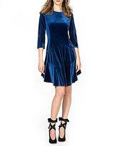 Donna Morgan Velvet Drop Waist Dress