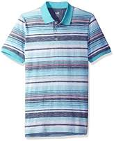 Lee Men's Short Sleeve Striped Polo (Various Styles and Sizes Including Big and Tall)