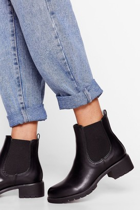 Nasty Gal Womens Take the Cleat Off Me Chelsea Boots - Black