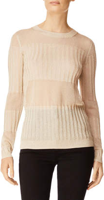 J Brand Andrea Ribbed Metallic Sweater