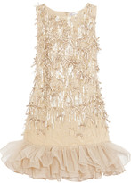 RED Valentino Embellished tulle dress