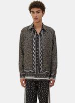 Fendi Men's Printed Pyjama Shirt In Grey, Yellow And White
