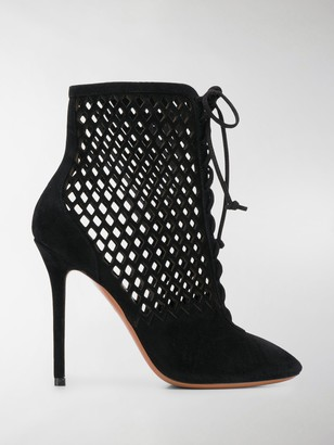 Alaia Cut-Out Detail 110mm Ankle Boots