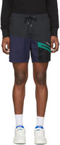 Leon Aime Dore Black and Navy Hiking Shorts