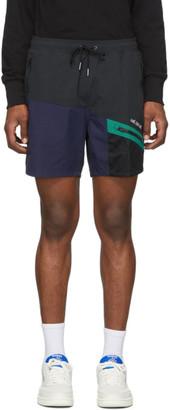 Aimé Leon Dore Black and Navy Hiking Shorts