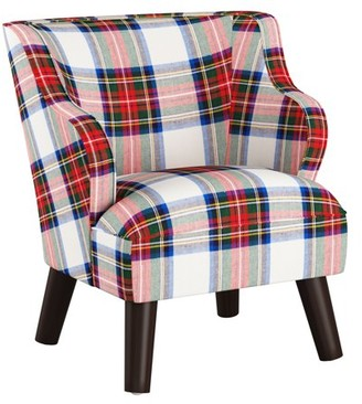 Skyline Furniture Kids Modern Chair in Stewart Dress Multi