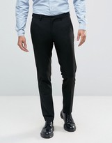 Asos Skinny Smart Light Wool Mix Pants In Black