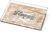 Edie Parker Happy Marbled Acrylic Tray, Neutral