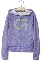 Gap GapFit kids heather zip hoodie