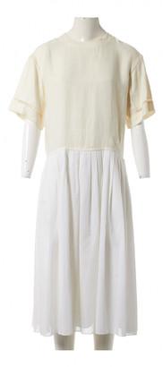 Hermes White Cotton Dresses