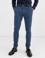 Asos Design ASOS DESIGN super skinny suit trousers in tonal blue stripe in blue
