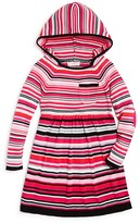 Design History Girls' Striped Hooded Dress - Little Kid