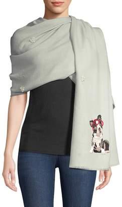 Janavi Cashmere & Merino Wool Embellished Dog Wrap Scarf