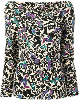 Versace Pre Owned 1990's Arabesque print blouse