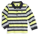 Armani Junior Infant Boy's Stripe Polo
