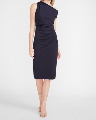Express Off The Shoulder Ruched Sheath Dress