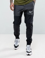 Nike Air Joggers In Tapered Fit In Black 832204-010