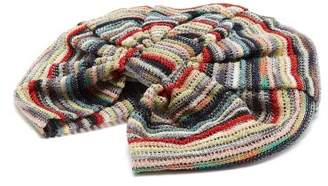 Missoni Striped Crochet Knit Turban Hat - Womens - Multi
