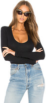 ATM Anthony Thomas Melillo Rib U Neck Bodysuit in Black. - size L (also in )
