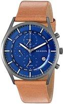 Skagen Men's SKW6285 Holst Light Brown Titanium Leather Watch
