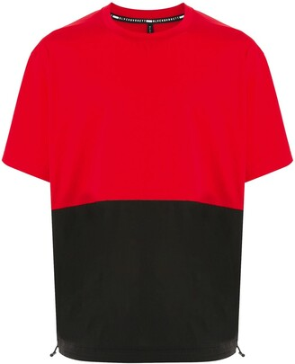 Blackbarrett two-tone drawstring-hem T-shirt