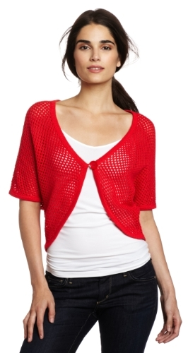 Chaus Women's Honeycomb One Button Shrug